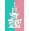 Stylized large birthday cake vector image