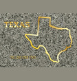 texas in stone vector image vector image