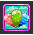 The application icon with balloons vector image