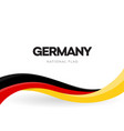 the federal republic germany waving flag banner vector image vector image