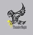 thunder night logo vector image vector image