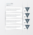 triangle Modern infographics banner white color vector image