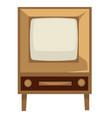 tv set 50s retro device in 1950s style vector image