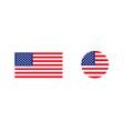 united states flag set vector image vector image