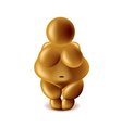 Venus of Willendorf isolated on white vector image