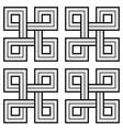 viking decorative knot - basic unweaved squares vector image vector image
