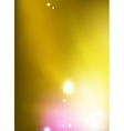 yellow shiny blurred sky background vector image vector image