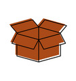 box carton isolated icon vector image