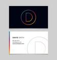 business-card-letter-d vector image