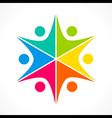 creative colorful teamwork icon design concept vector image