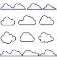 180715 Cloud icon set vector image vector image