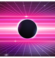 80s Retro Sci-Fi Background vector image