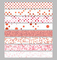 abstract circle pattern web banner background set vector image vector image
