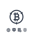 bitcoin related icons on white vector image vector image