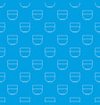 bowl pattern seamless blue vector image