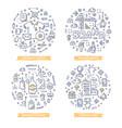 branding doodle vector image
