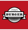 Burger - American Classic vintage stamp vector image vector image
