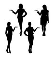 business lady silhouette vector image vector image