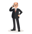 businessman talking on phone vector image vector image