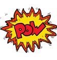 cartoon comic book pow symbol vector image