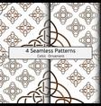 celtic set pattern 0001 vector image