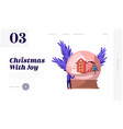 christmas and new year holidays website landing vector image vector image