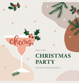 christmas party greeting card invitation vector image vector image