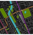 city map with transportation scheme vector image vector image