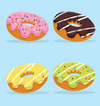 colorful donut set vector image