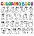 coloring book cartoon alphabet topic 1