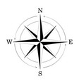 compass wind rose isolated on white background vector image vector image
