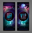 disco ball background disco party poster vector image vector image