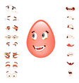emotion constructor for easter egg character vector image