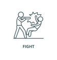 fight line icon linear concept outline vector image vector image