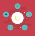 flat icons isle beach eco energy blossom and vector image vector image