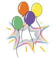 Four colorful flying balloons vector image vector image