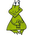 frog or toad cartoon vector image vector image