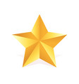 gold metall star award 3d shape vector image vector image