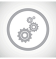 Grey settings sign icon vector image
