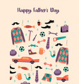 happy fathers day templates vector image vector image