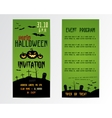 Happy Halloween Greeting Cards Flyer vector image
