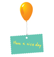 have a nice day card vector image
