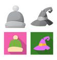 headgear and cap logo set vector image