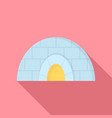 icehouse icon flat style vector image vector image