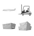isolated object goods and cargo sign vector image vector image