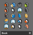isometric outline color icons set vector image vector image