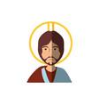 jesuschrist face cartoon vector image vector image