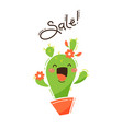 joyful cactus reports a sale vector image