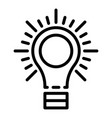 light sun bulb icon outline style vector image