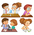 Little scientists vector image vector image